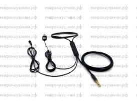 Проводной микронаушник, магнитный динамик, микрофон-выносной