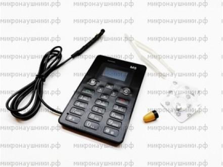 Телефон микронаушник, капсульный динамик, микрофон -выносной с кнопкой пищалкой