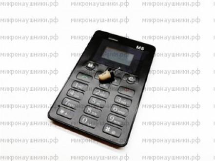 Телефон микронаушник, капсульный динамик, микрофон-встроенный