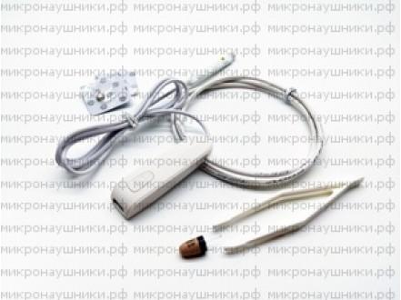Bluetooth микронаушник, капсульный динамик, микрофон выносной с кнопкой пищалкой