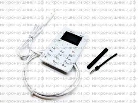 Телефон микронаушник, магнитный динамик, микрофон-выносной
